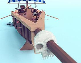 3D asset Ship low poly