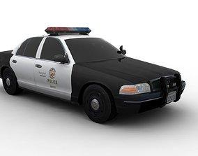 LAPD-POLICE CAR 3D model