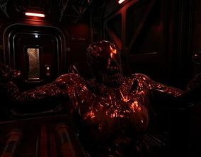 Alien Horror Gliomorph- UE4 FBX 3D model