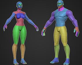 3D model Stylized Base Mesh Bundle