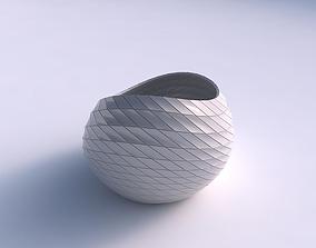 Bowl skewed with grid plates 3D print model