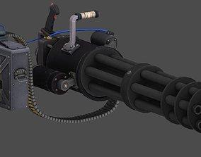 Minigun 3D model animated VR / AR ready