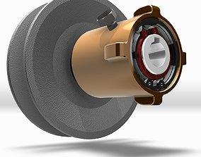 3D model Variable Speed Pulley - Screw Mechanism