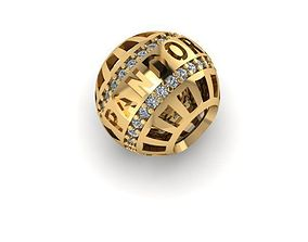 stones and writing charm ball 3D print model