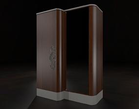 Msk - Wardrobe with mirror fin18 3D model