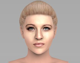 Beautiful blonde woman bust for full color 3D printing 2
