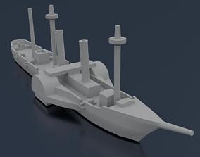3D printable model Paraguayan Steam Tacuari
