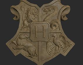 3D model Hogwarts Emblem