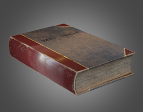 3D asset Book Pbr AR Lowpoly Unity 5 UE4