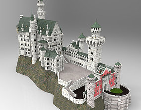 Neuschwanstein Castle in obj and fbx formats 3D