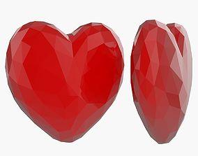 Heart symbol 3D model