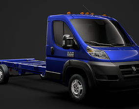 3D model Ram Promaster Cargo Chassis Truck Single Cab 2