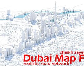 Dubai Skyline - sheikh zayed road 3D model game-ready