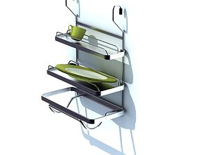Compact White Dish Rack 3D model