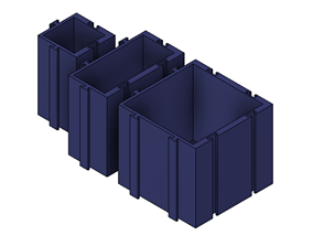 3D print model Puzzle style storage box
