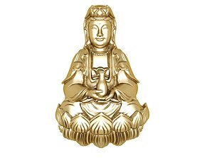 3D print model 08 Buddha For Gold Pendant