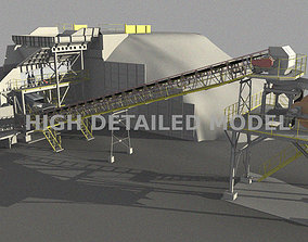 Mining plant for presentations and animations 3D