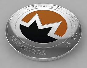 3D Monero XMR Crypto Coin model