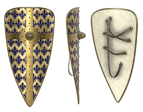 3D Norman Long Shield