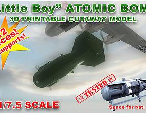 Atomic bomb cutaway scale model