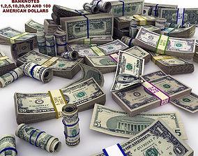 3D asset MoneyPack - American Dollars