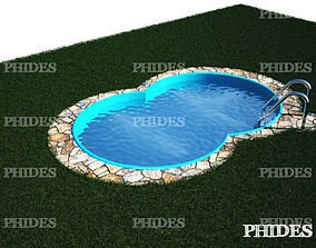 3D model luxury Swimming pool
