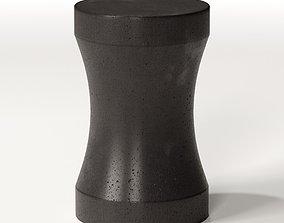 3D model Lava Stone Stool End Table