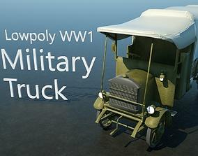 3D model WW1 Military Truck