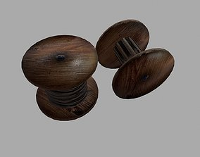 Electrical cable reel vintage 3D asset