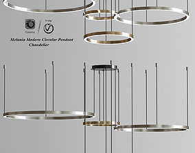 3D Melania Modern Circular Pendant