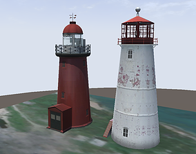 game-ready Lowpoly 3d model lighthouses