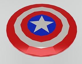 shield of captain america papercraft 3D printable model