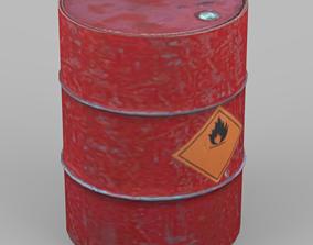 Barrel 3D model game-ready unreal-engine