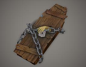 3D model Stylized PBR Coffin