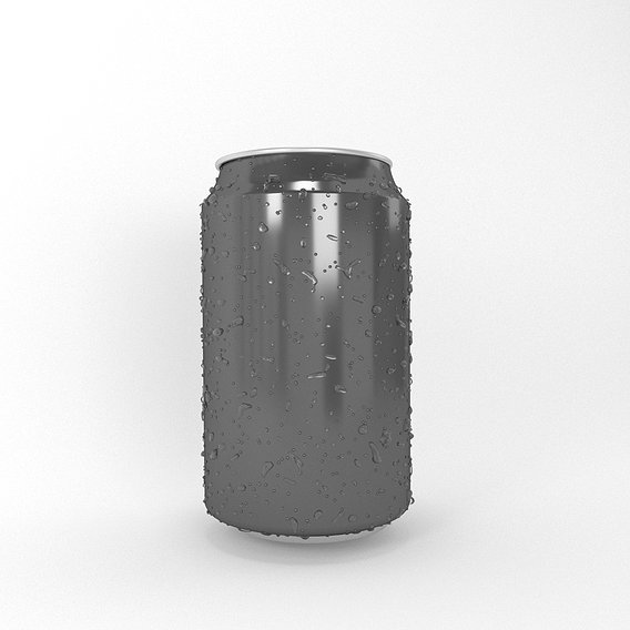 can with waterdrops