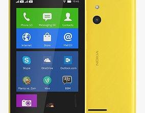 Nokia XL yellow 8 3D