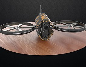 3D asset low-poly Security Drone