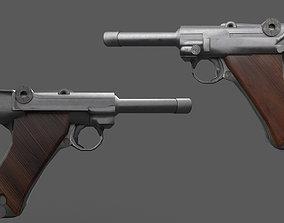 Luger WW2 Weapon 3D model