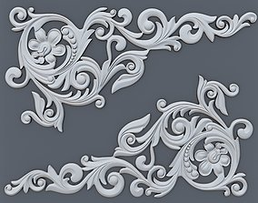 Classic baroque onlay corner element 002 3D print model