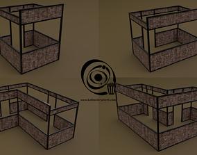3D model Stall stand Set 4M1T 02 R