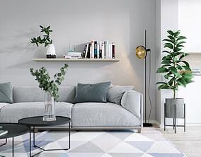 3D Interior Scene living-room
