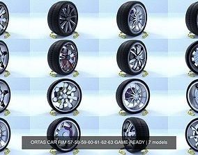 ORTAS CAR RIM 57-58-59-60-61-62-63 GAME READY 3D