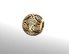 3D print model patterned charm ball