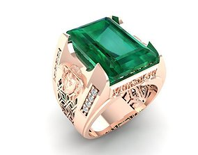1107 Diamond Versace Ring 3D printable model