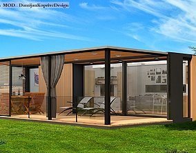 realtime mobile home tiny house 3d model