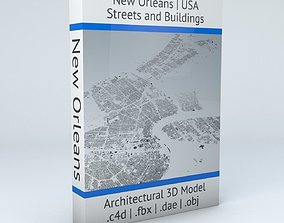 3D model New Orleans Downtown Streets and Buildings