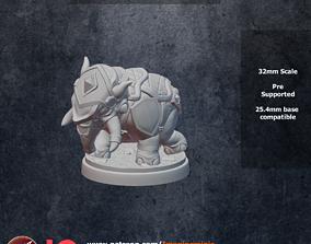 3D printable model Armored Baby Elephantine