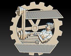 Badge Man 3D printable model audio-device