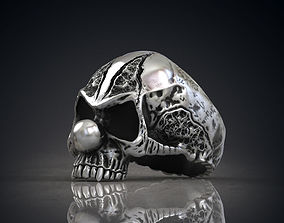 Ring of the evil clown skull STL 3d model for 3d