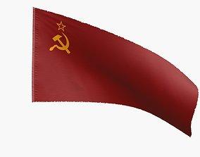 3D asset Soviet Union Flag